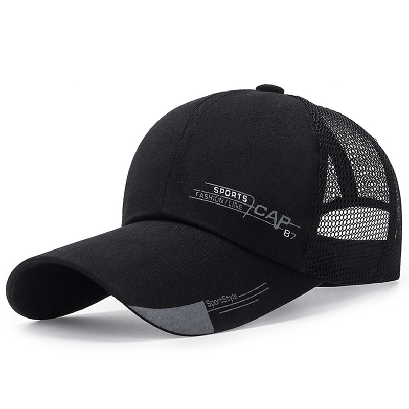 Unisex Cap Casual Plain Mesh Baseball Cap Adjustable Snapback Hats For Women Men Hip Hop Trucker Cap Outdoor Streetwear Dad Hat недорого