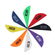 40pcs  2'' Plastic Arrow Vanes Feather Plastic Accessories for Carbon Arrow Shaft Arrow DIY Shooting Hunting