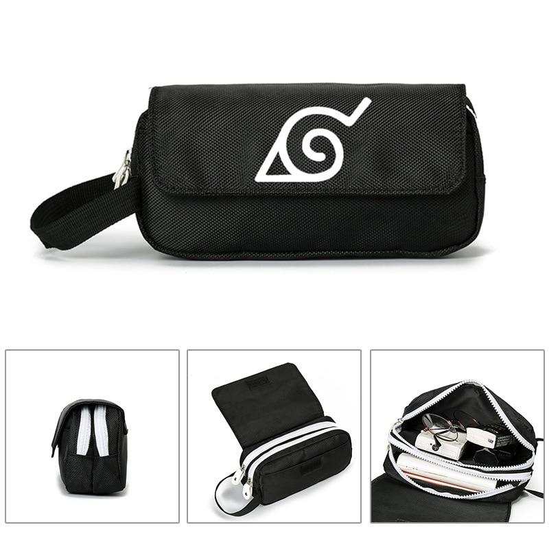 Anime Naruto Uzumaki Naruto billetera Cosplay bolso cosmético portátil lápiz bolsa de mano bolsa de regalo