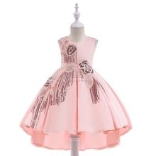 Bloem Meisjes Jurken Prinses Elsa Party Dress Voor Meisje Mouwloze Girldress Kwastje Prinses Trouwjurk Kinderen Vestidos