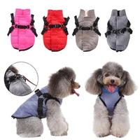 pet warm winter jacket dog clothes dogs windbreaker harness vest puppy vest pet dog down coat yorkies chihuahua clothing outfit