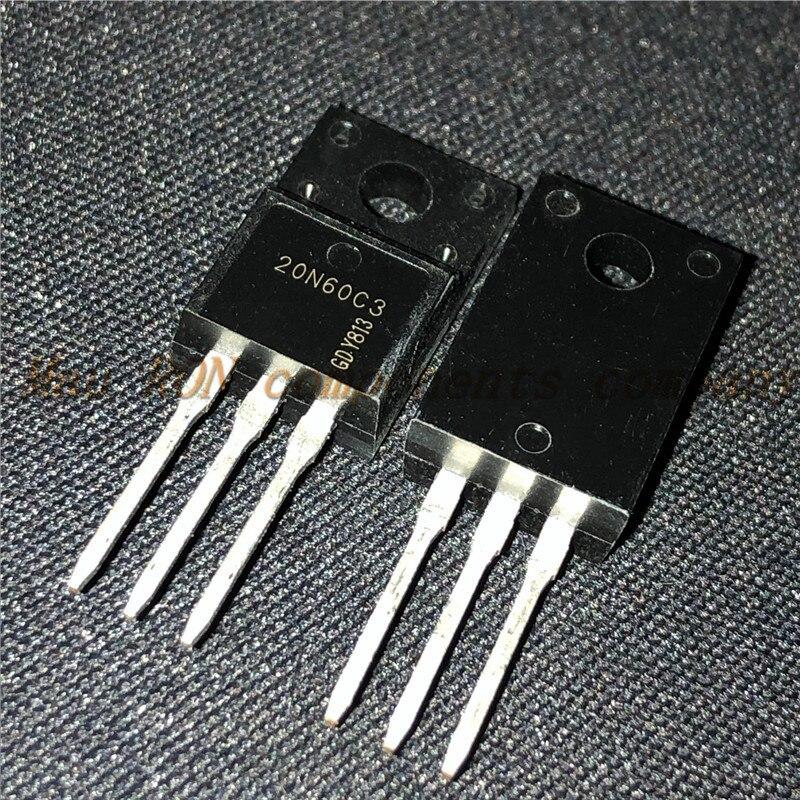 10 PÇS/LOTE 20N60C3 SPA20N60C3 TO-220F N-canal MOS transistor 20A600V novo original Em Estoque