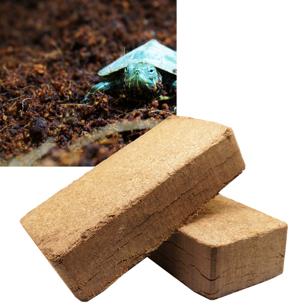 Reptile Coconut Fiber Substrate Bricks Cocopeat Lizard Tortoise Reptile Natural Beddings Soil for Te