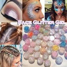 Glitter Glam Liquid Skin Sparkle Eye Glitter Hair Body Face Glitter Gel  Flash Heart Loose Sequins Glitter Eyeshadow Cream