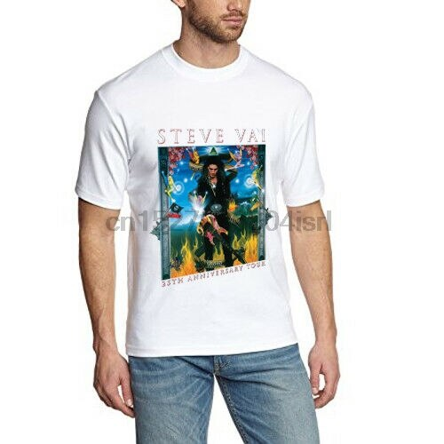 Steve Vai гитара футболка Legend две стороны белая футболка хлопок новая мужская футболка