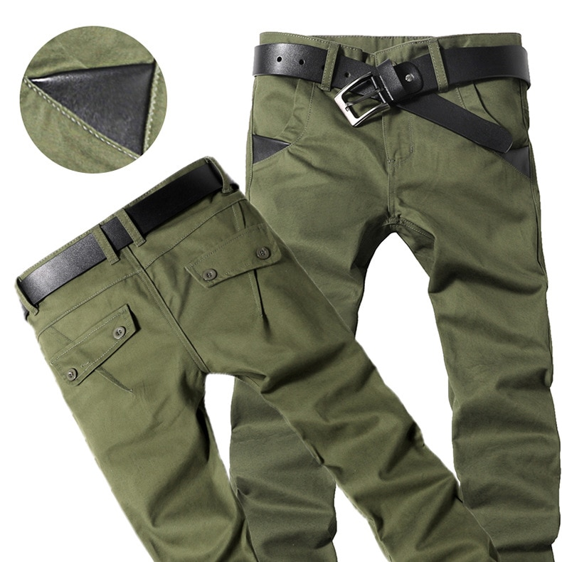 2021 Summer winter elasticity Men Rugged Cargo Pants Men Silm Fit Milltary Army Overalls Pants Tactical Casual Trousers hip hop