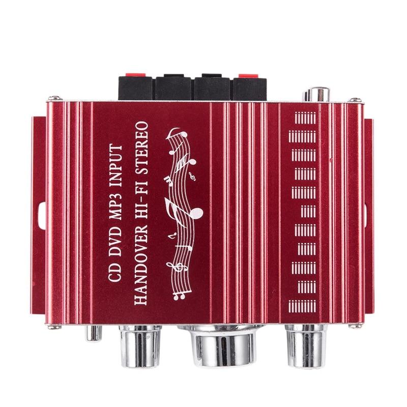 Altavoz MP3 amplificador estéreo Hi-Fi 3C-RCA 2CH para coche DVD Mini Moto