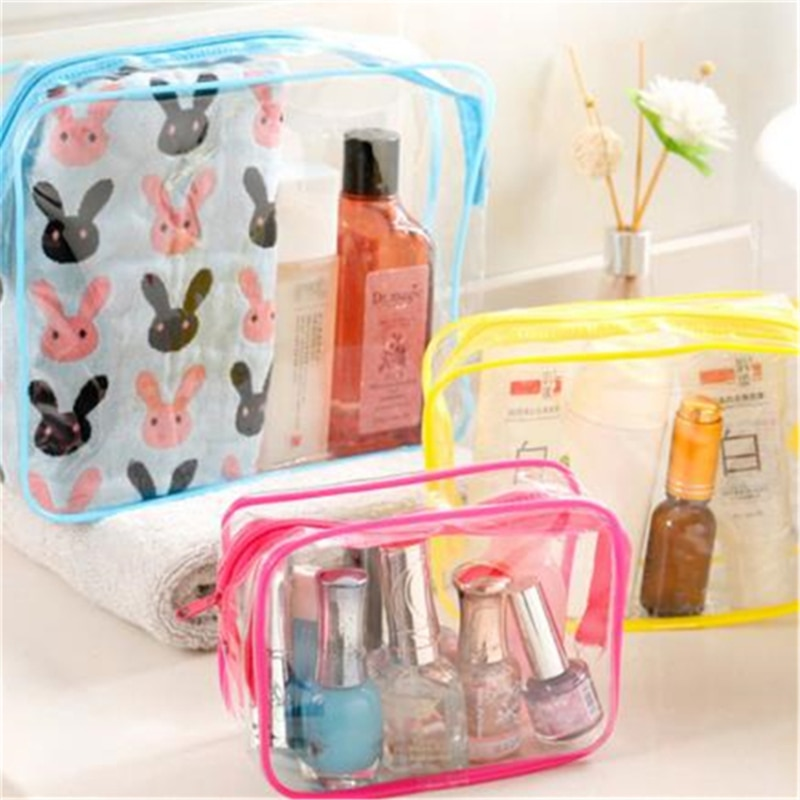 Women's Cosmetic Bag PVC Transparent Toilet Bags Travel Girl Makeup Bag Holder Cosmetics Toiletry Ki