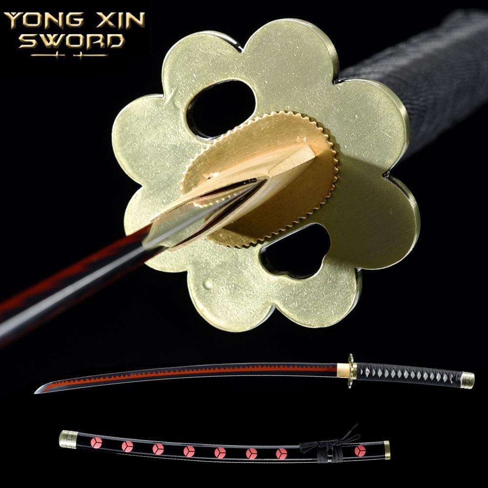 Corte afilado japonés Samurai Katana espada completa Tang Bo-hi 1065 hoja de acero al carbono espada Katana Samurai Cosplay espada