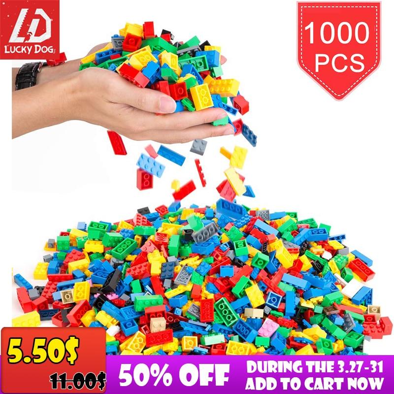 200-1000 Pcs Bausteine DIY Kreative Ziegel Modell Konstruktor Educational Kinder Spielzeug