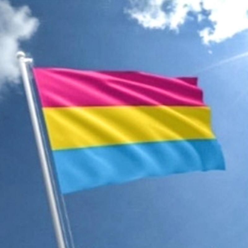 Pancarta Arco Iris 3x5ft Bandera de orgullo grande durabilidad bandera lesbiana poliéster creativo Gay peso ligero LQBTQ Tansgender Pansexual