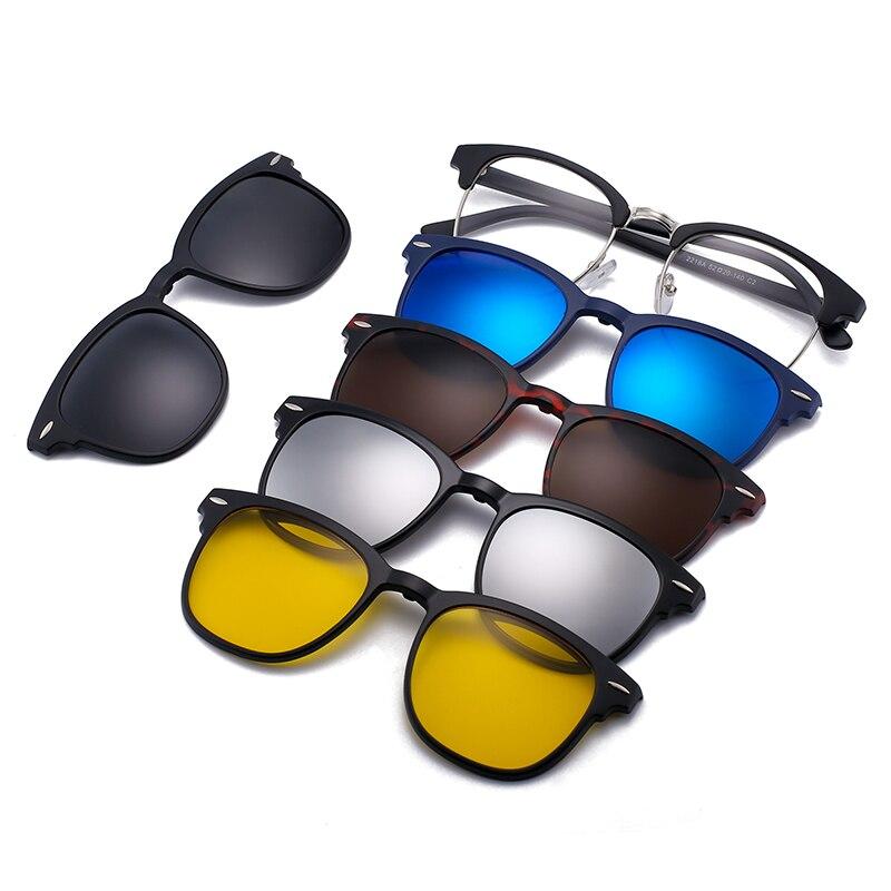 AliExpress - 5PCS Magnetic Polarized Clip On Sunglasses Women Men Plastic Frame for Night Driving Sunglasses UV400