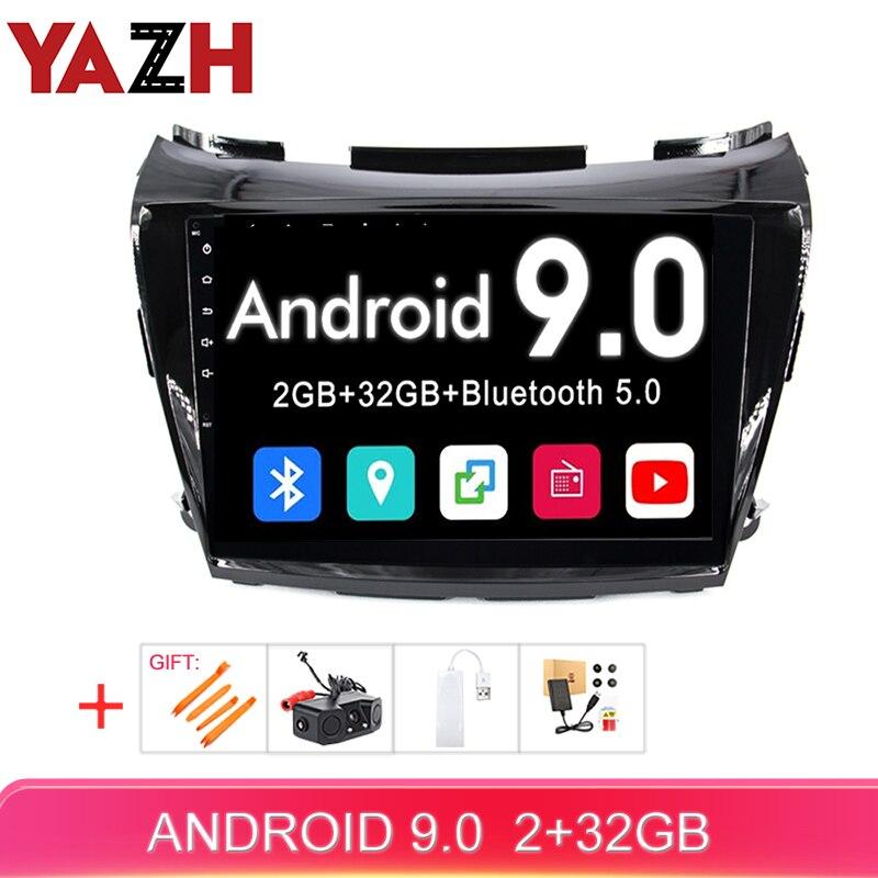 YAZH Android 9.0 voiture multimédia pour Nissan Murano 2015 2016 2017 2018 2019 voiture auto radio 1080*600 HD IPS écran gps navigation