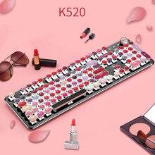 Kablolu 104 tuşları Punk Usb mekanik Metal oyun oyun ruj için klavye dizüstü bilgisayar masaüstü için uygun oyun kızlar kadınlar