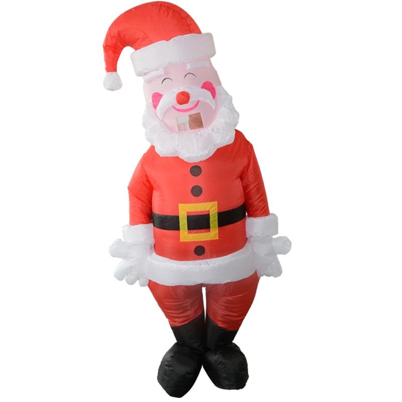 Disfraz inflable de Papá Noel para chico, fiesta de Halloween, Festival, disfraces de Cosplay, decoraciones al aire libre para niños y adultos