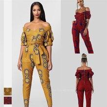 Robes africaines pour femmes 2020 nouvelles dames Dashiki imprimer épaule hors Ankara Style pantalon mode Robe Africaine combinaison fête