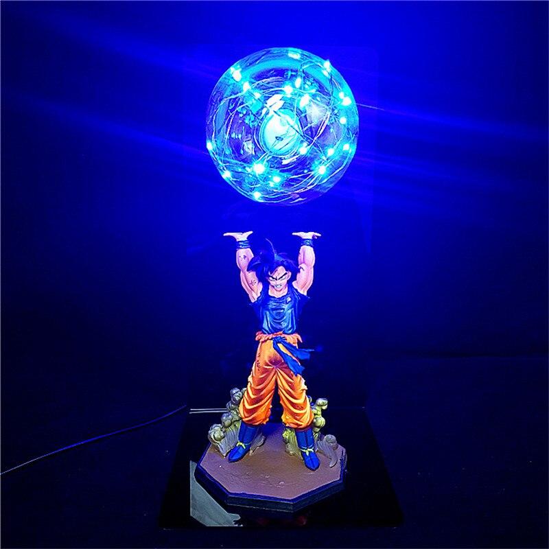 لعبة دراغون بول زد الترا غريزة سون غوكو شخصيات الحركة لتقوم بها بنفسك مصباح الشكل DBZ قوة القنابل LED غرفة نوم مجموعة ديكور اللعب