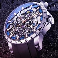 ailang mens mechanical watch automatic hollow double tourbillon sports waterproof atmosphere genuine sports luminous watch 8826