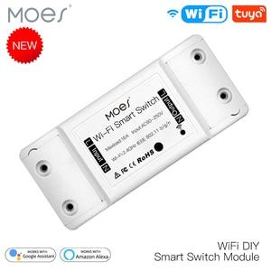 16A DIY WiFi Smart Light Switch Module Universal Breaker Smart Life APP Wireless Remote Control Works with Alexa Google Home