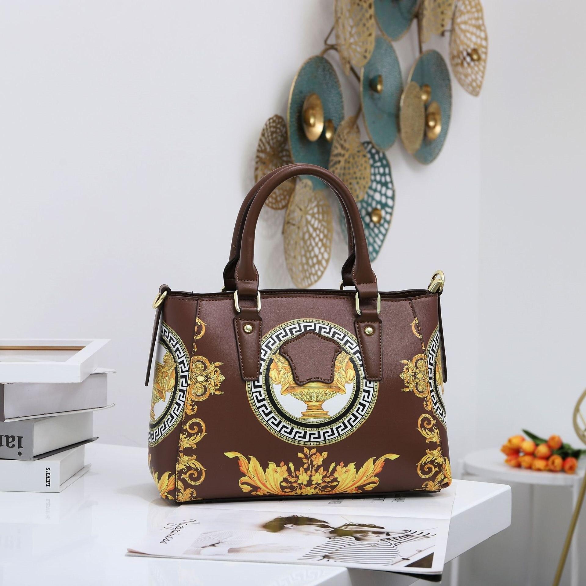 طباعة نمط بولي جاكيت جاكيت جلدي مقبض حقيبة يد للنساء الأوروبية والأمريكية الإناث أكتاف حقائب تسوق الأم الكبيرة