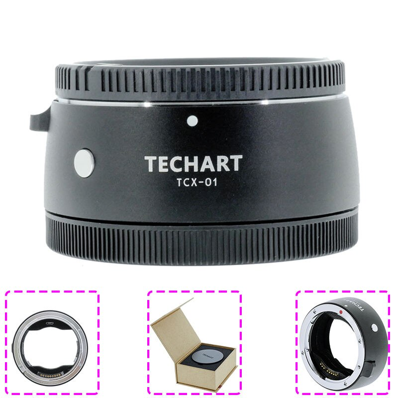 Temap TCX-01 السيارات التركيز AF كاميرا محول عدسات لكاميرا كانون EF عدسة إلى Hasselblad X1d X1DII حامل عدسات الكاميرا