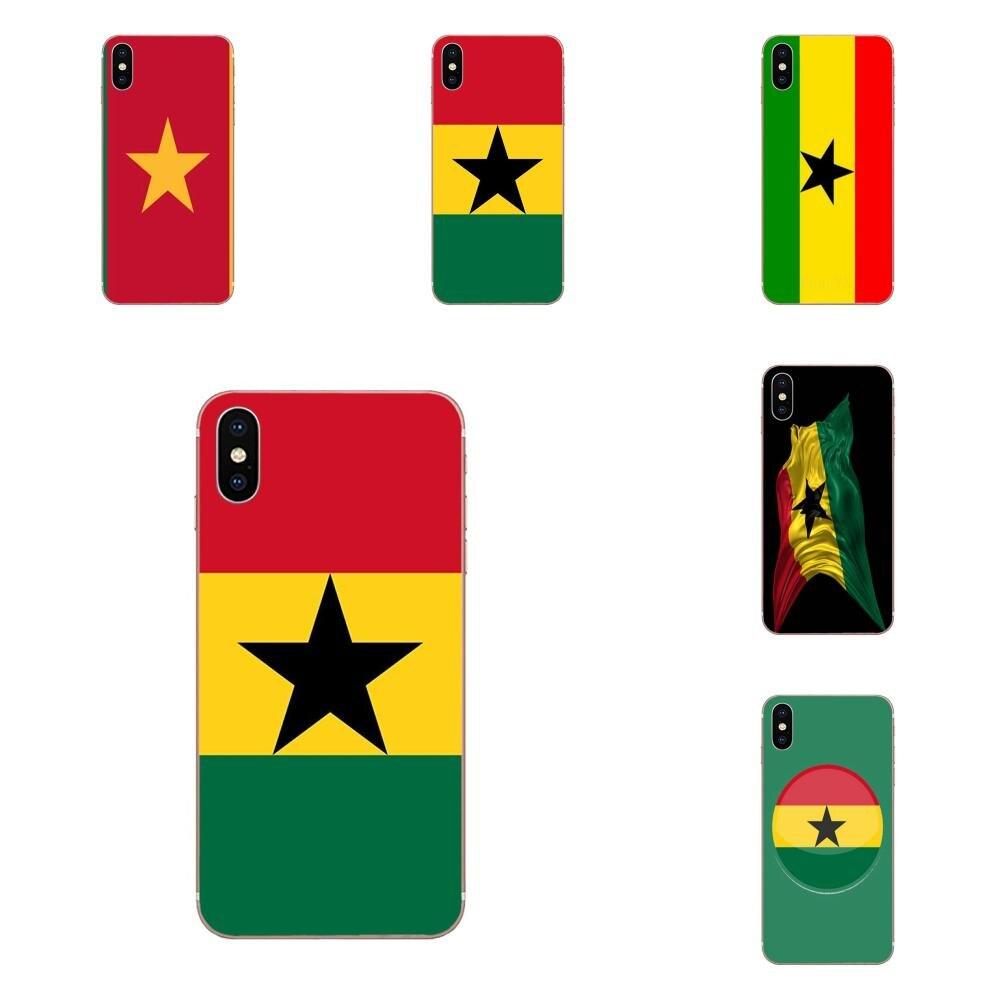 Bandera de Ghana bandera nacional para LG G2 G3 G4 G5 G6 G7 K4 K7 K8 K10 K12 K40 Mini Plus ThinQ 2016 de 2017, 2018 TPU cubre caso