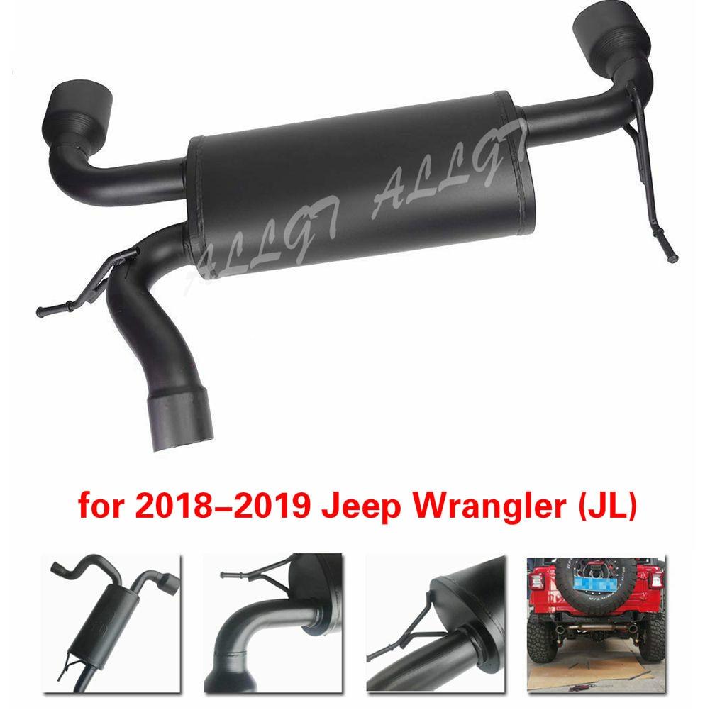 Sistema de escape de aço inoxidável do metal para jeep wrangler jl 2018-2019