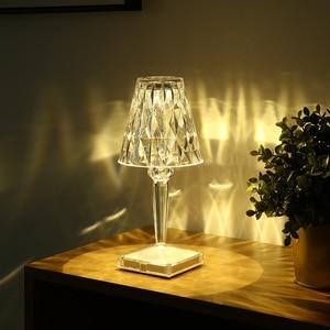 Nordic Italian Creative Touch Led Table Lamp Battery Desk Lamp Sensor Table Light Indoor Decor Restaurant Romantic Light Fixture