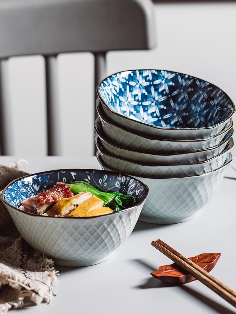 Jingdezhen  Tableware Ceramic Bowl Idea 5 Inch Rice Bowl Dinner Bowl Home Noodle Bowl Small Soup