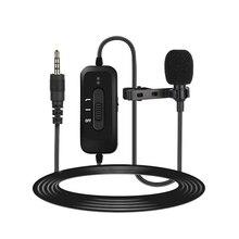 Micrófono Lavalier solapa condensador Mic omnidireccional Cancelación de ruido recarga para cámara y teléfono