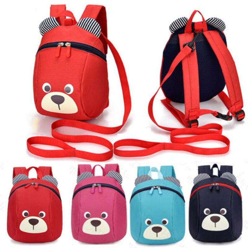 Nueva mochila de oso para niños/niñas bolso de viaje ANTI-Pérdida niños Kindergarden