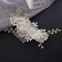 white flower hair comb hairpins hair accessories women bride headdress bridal wedding jewelry engagement party gifts