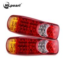 NLpearl Car Light Assembly 46LED 12V/24V Truck LED Tail Light Rear Lamp Stop Turn Signal For Trailer Truck Caravans Taillights