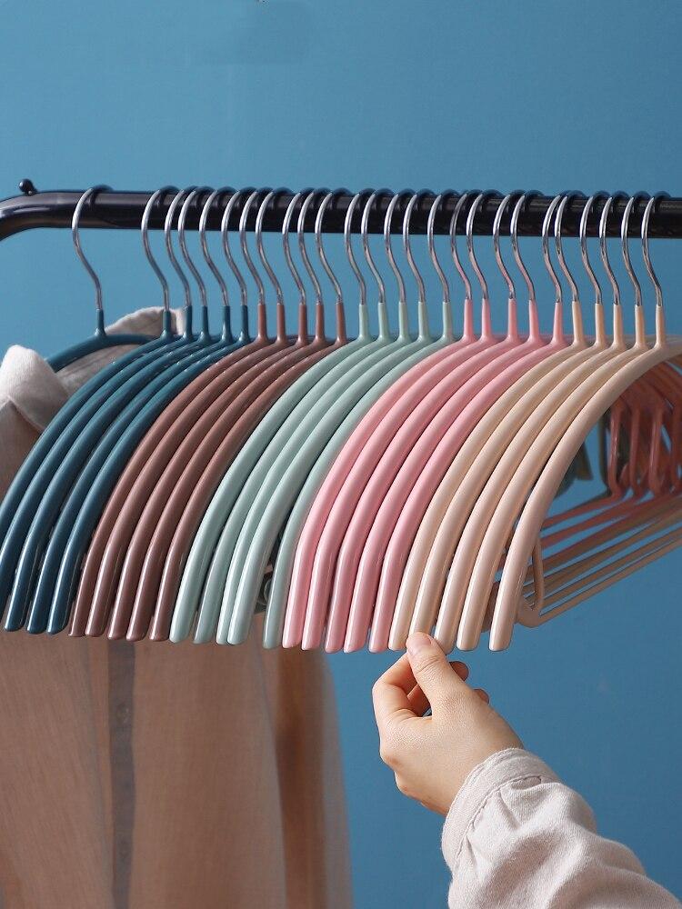 10 قطعة علاّقات ملابس الفولاذ المقاوم للصدأ عدم الانزلاق قميص رف بنطلون هوك معطف الشماعات يندبروف تجفيف رفوف خزانة منظم