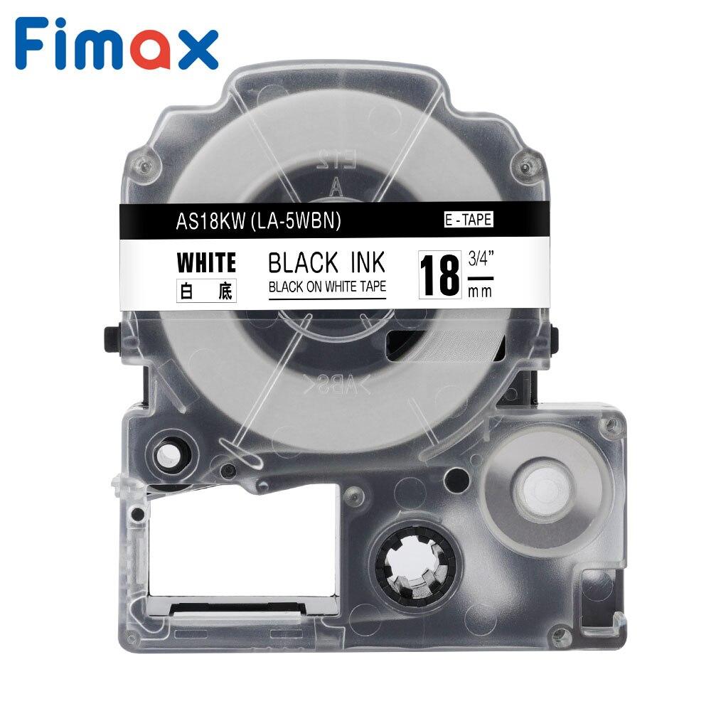 Fimax 1 упаковка SS18KW ST18KW, совместимая с Epson/King/Jim, этикетка картриджа-менеджера по производству этикеток, для Epson/King, этикетка картриджа, 1 упаковк...