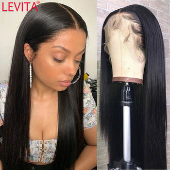 LEVITA 13x4x1 bone straight lace front wig Brazilian lace front Human Hair Wigs for women lace frontal wig 4x4 lace closure wig