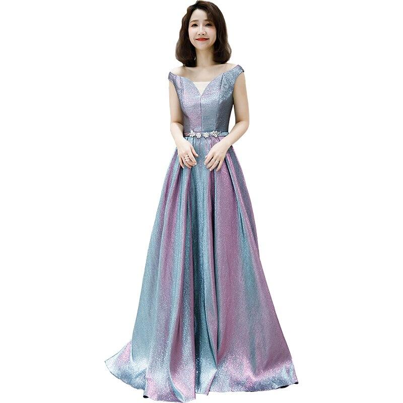 Ladybeauty-فستان سهرة طويل متدرج ، 2019 ، فستان حفلة ، حزام كريستال ، فستان سهرة