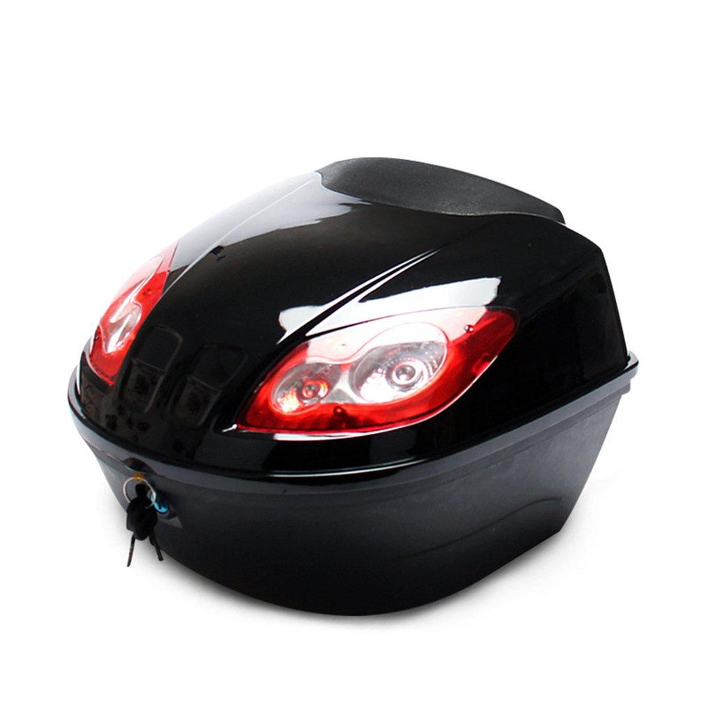 E-bicicleta cola caja Scooter Eléctrico baúl de la motocicleta Top caso duro casco de almacenamiento de equipaje con faro reflectante