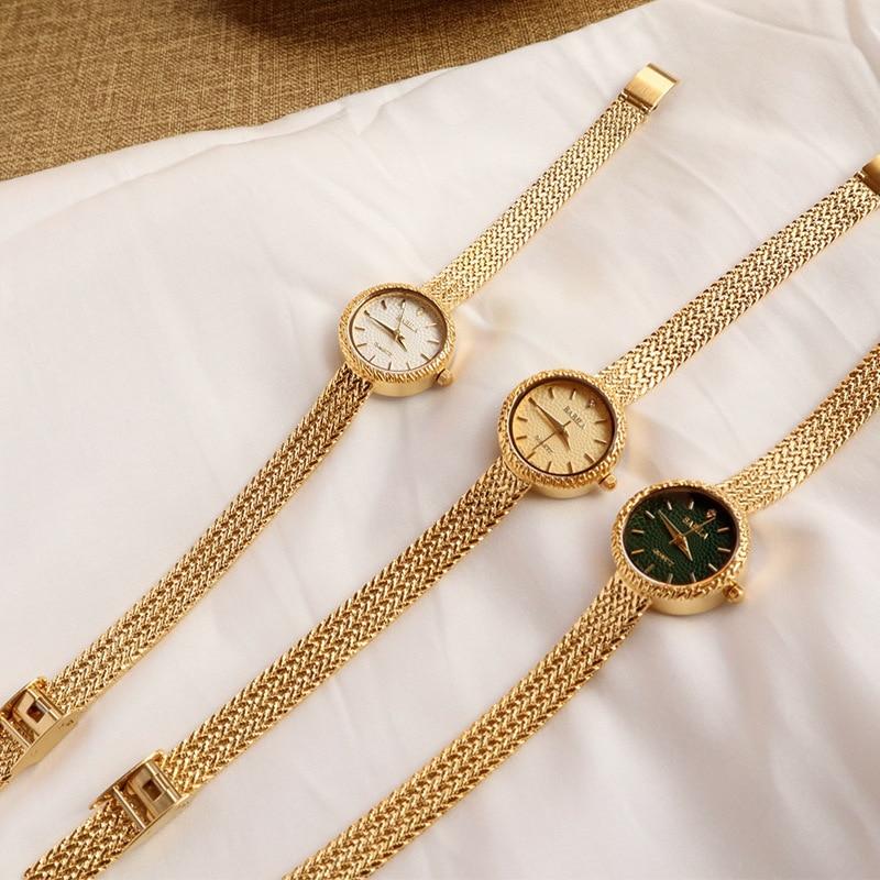 INS Retro Women Quartz Watch with Niche Fashion and Leisure Chic Emerald Watch for Women Luxury enlarge