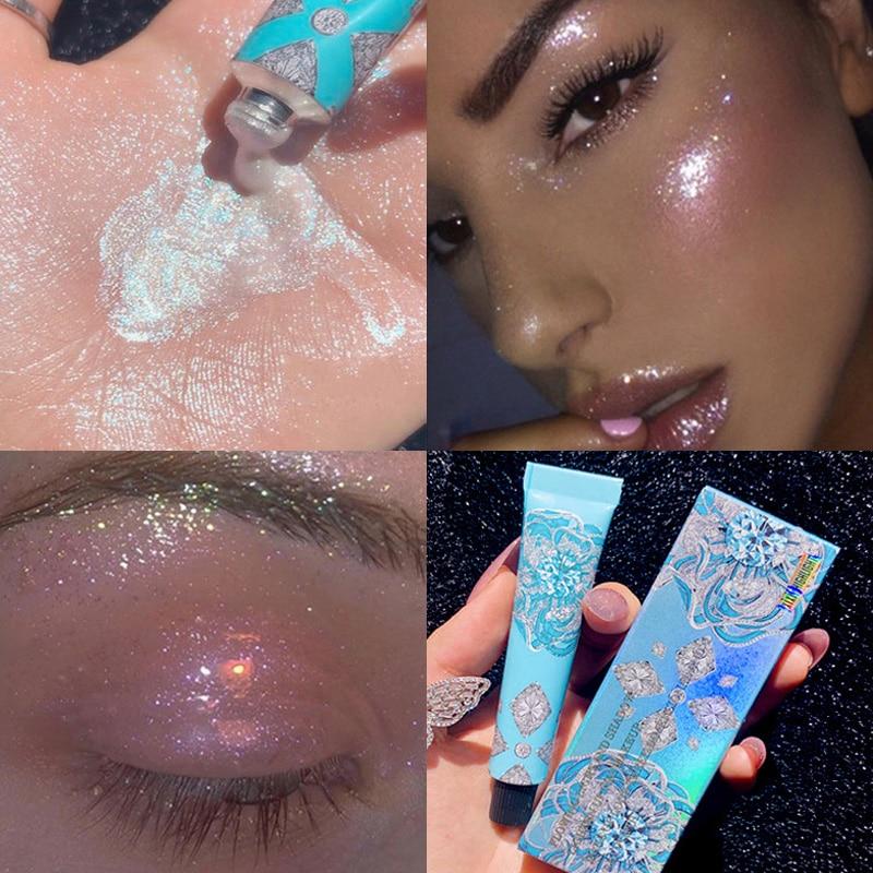 7g Highlighter liquid gold blue palette makeup glow contour shimmer powder Brighten face body highlighter makeup Liquid cosmetic недорого