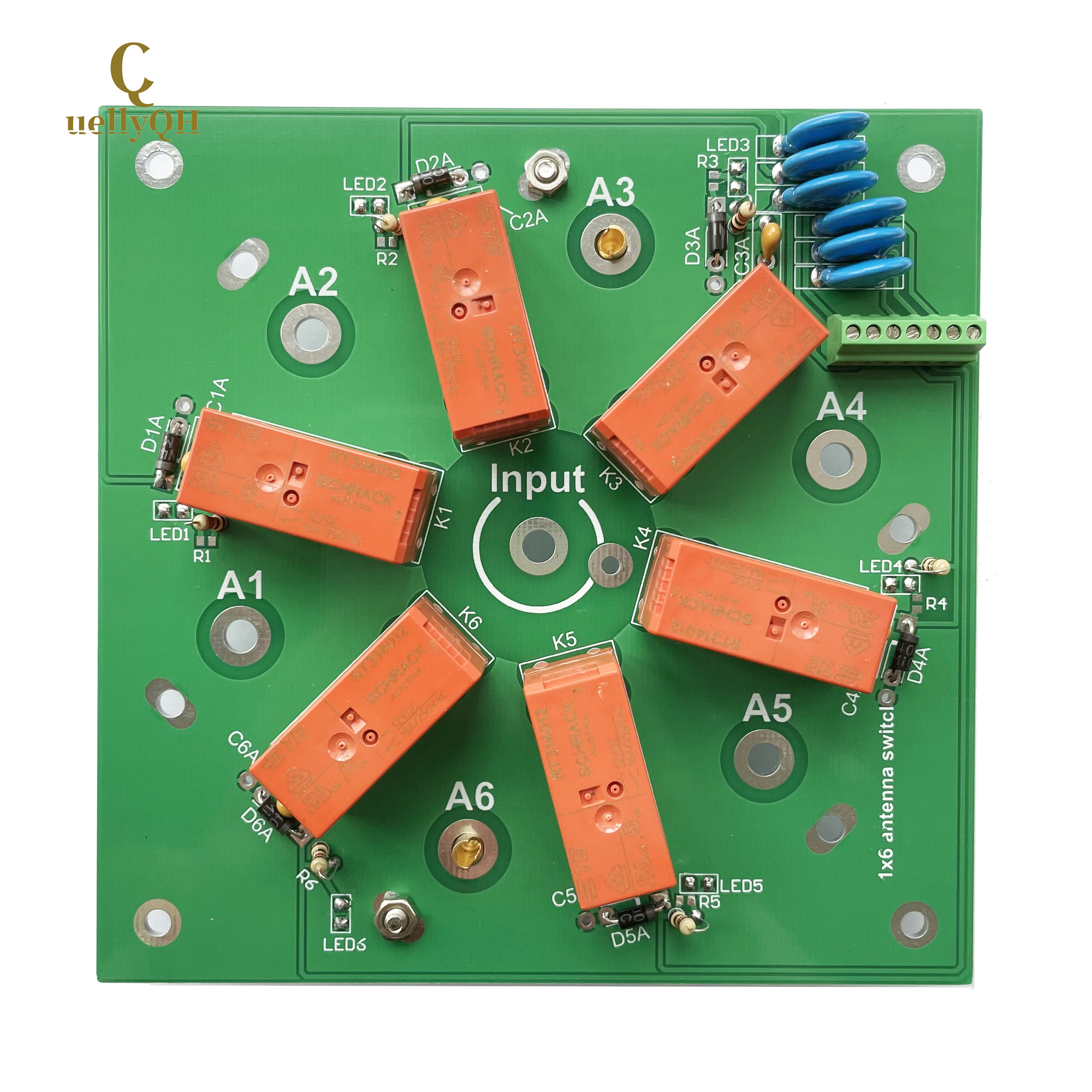 KIT 6:1 coax remote antenna switch SO-239 6-way 1.8-60MHz