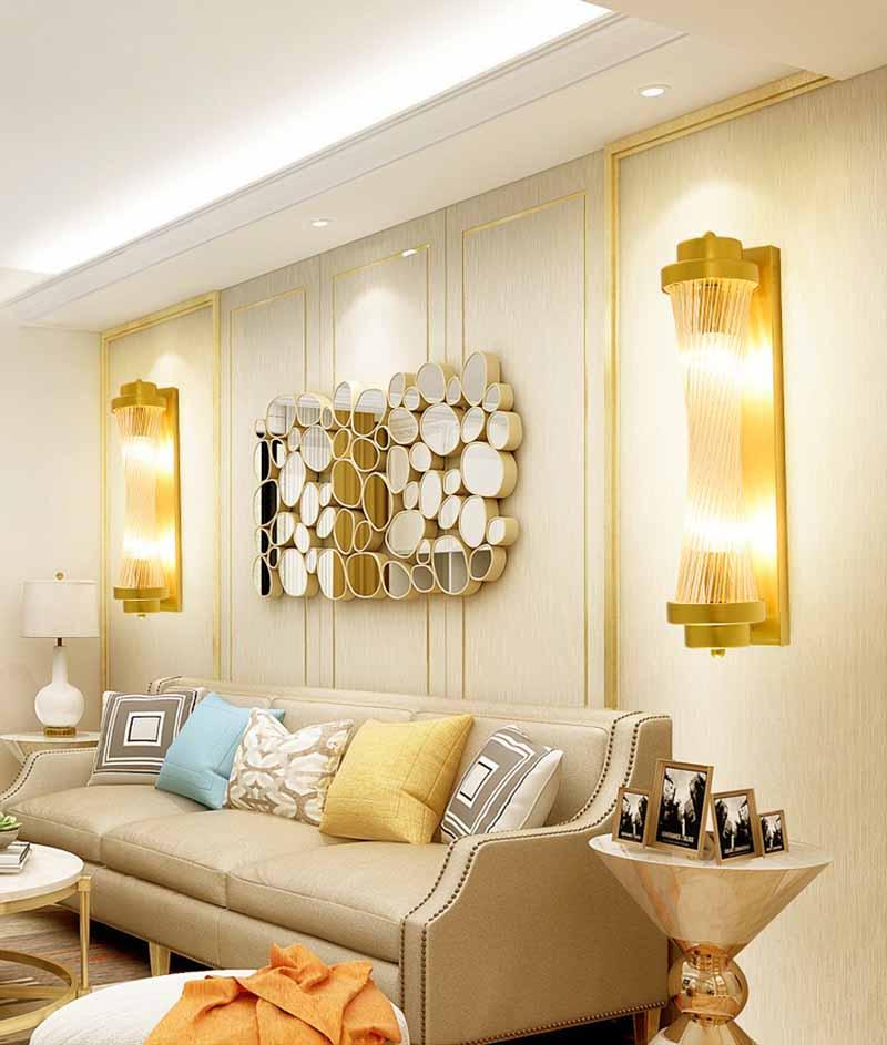 BOKT Modern Lustre Crystal Wall Lamp Bedroom Rotatable Led Wall Lights Fixtures Living Room Wall Sconce Lights