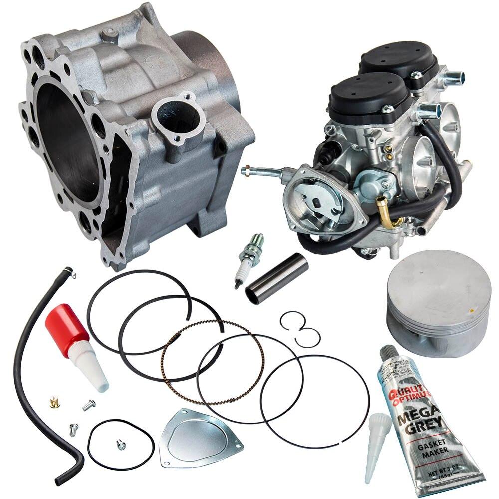 Carburetor Cylinder Piston Gasket Top End Kit For Yamaha Raptor 660R 2001 - 2005