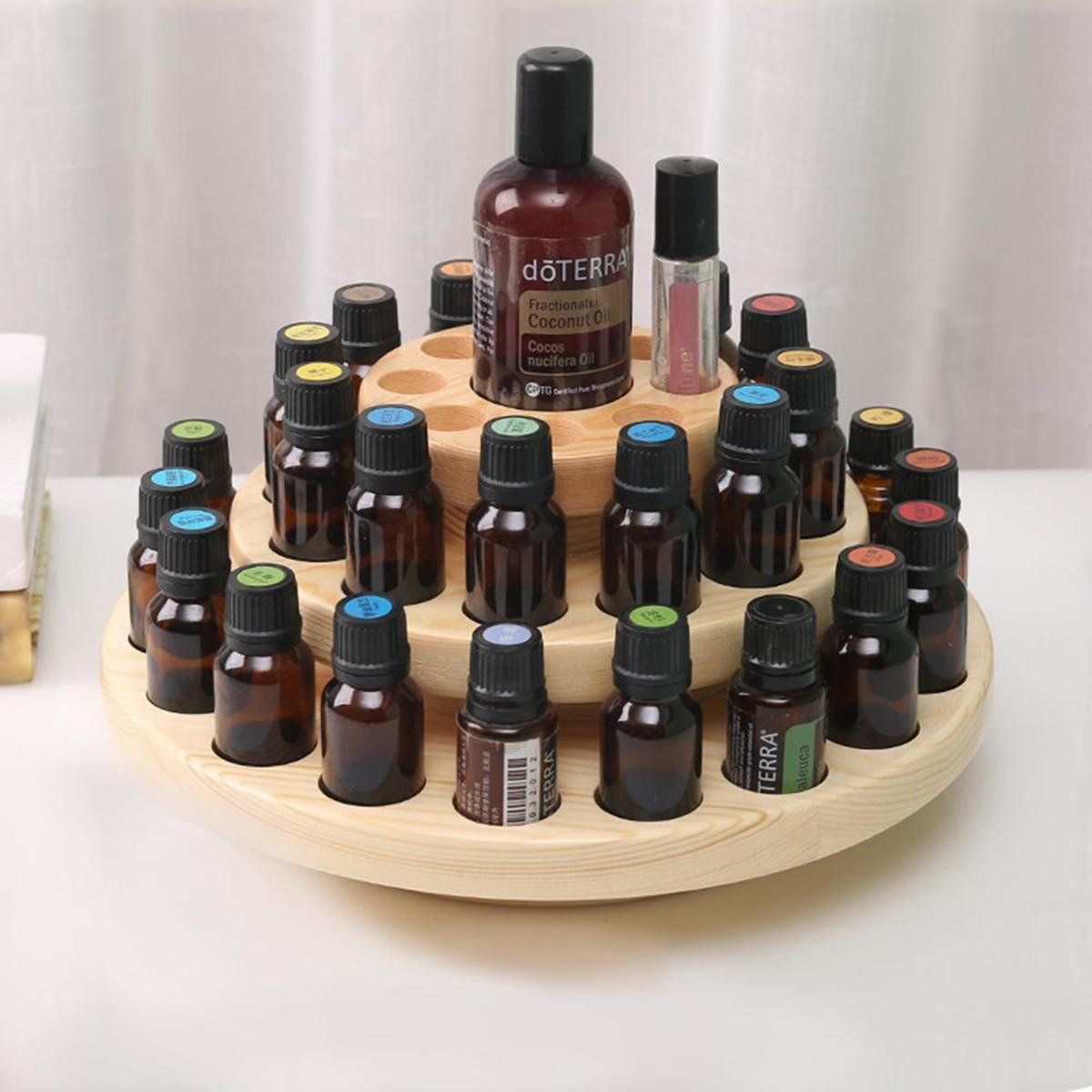 صندوق خشبي للزيوت الأساسية 39 شبكات الروائح صندوق تخزين النفط تدوير عرض حامل لسطح المكتب تخزين الرف