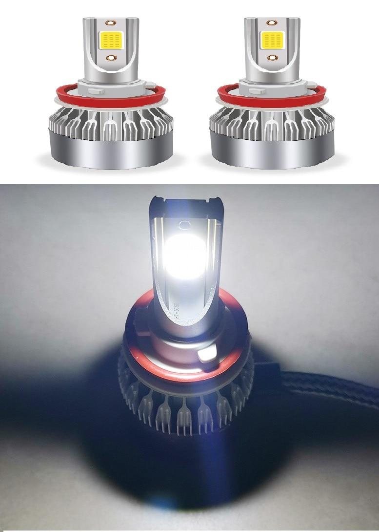 18W 3800LM Car Led Lights H4 H7 H1 LED H3 H13 H11 6000K Auto fog Light 12V LED Bulb