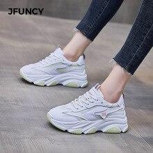 JFUNCY Women's Sneakers Fashion Breathable Running Shoe Femael Casual Non Slip Platform Sneaker Brea