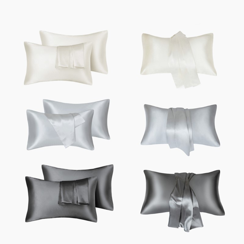 24 Hours Shipping Silk Pillowcase King Queen Size Home Hotel Travel Hair Face Feelingless High Quality Pillow Cover