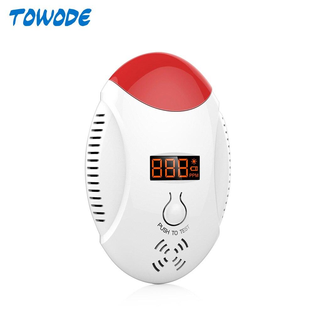 Towode Wireless Carbon Monoxide CO Detector Voice Strobe Alarm Sensor for Home Alarm System Fire Detector LED Display