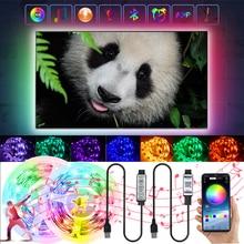 Bluetooth APP USB RGB LED Lights Strip 3 Key Control Flexible Lamp Tape 5050 5V Decoration TV BackLi
