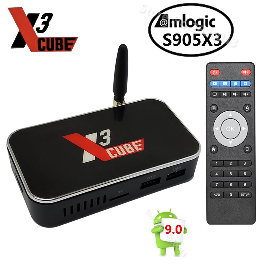 Ugoos x3 cubo android 9.0 smart tv caixa amlogic s905x3 2gb 16gb 2.4g 5g wifi 1000m lan 4k media player